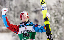 21.02.2016, Salpausselkae Schanze, Lahti, FIN, FIS Weltcup Ski Sprung, Lahti, Herren, Siegerehrung, im Bild Sieger Michael Hayboeck (AUT) // Winner Michael Hayboeck of Austria during Winner Award Ceremony of Mens FIS Skijumping World Cup of the Lahti Ski Games at the Salpausselkae Hill in Lahti, Finland on 2016/02/21. EXPA Pictures © 2016, PhotoCredit: EXPA/ JFK