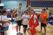Cagliari, 05/08/2009<br /> Nazionale Italiana Maschile incontra i ragazzi di Special Olympics<br /> Nella foto: Luigi Datome, special olympics<br /> Foto Ciamillo