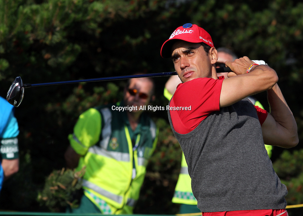 22.07.12 Lytham & St Annes, England. Spain's Rafael Cabrera-Bello in action during the fourth and final round of The Open Golf Championship from the Royal Lytham & St Annes course in Lancashire