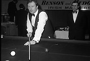 1980-05-01.1st May 1980.01-05-1980.05-01-80..Photographed at Goffs, Kill, Co Kildare..Deciding the shot: ..Denis Taylor looks over the table in the Benson & Hedges Irish Masters Snooker Championships.