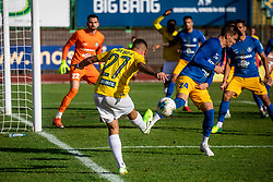 Aljoša Matko of Bravo vs Ivan Božić of Celje during football match between NK Bravo and NK Celje in 13th Round of Prva liga Telekom Slovenije 2019/20, on October 5, 2019 in ZAK stadium, Ljubljana, Slovenia. Photo by Vid Ponikvar / Sportida