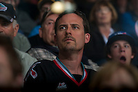 KELOWNA, CANADA - APRIL 17: Face of the game on April 17, 2016 at Prospera Place in Kelowna, British Columbia, Canada.  (Photo by Marissa Baecker/Shoot the Breeze)  *** Local Caption ***