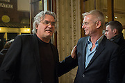 PAUL GREENGRASS; STEPHEN DALDRY, The Audience Press night, Gielgud Theatre and after-party at the Horseguard Hotel. London. 5 March 2013