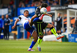 Chris Humphrey of Bury challenges Tom Nichols of Bristol Rovers - Mandatory by-line: Matt McNulty/JMP - 19/08/2017 - FOOTBALL - Gigg Lane - Bury, England - Bury v Bristol Rovers - Sky Bet League One