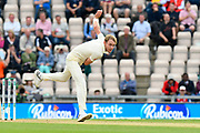 Stuart Broad of England bowling during the first day of the 4th SpecSavers International Test Match 2018 match between England and India at the Ageas Bowl, Southampton, United Kingdom on 30 August 2018.
