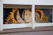 Mural in Mayari, Holguin, Cuba.