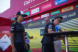 Giorgia Bronzini (ITA) of Cylance Pro Cycling signs on before Stage 2 of the Madrid Challenge - a 100.3 km road race, starting and finishing in Madrid on September 16, 2018, in Spain. (Photo by Balint Hamvas/Velofocus.com)