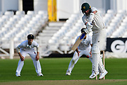 Jake Ball of Nottinghamshire batting during the Bob Willis Trophy match between Nottinghamshire County Cricket Club and Derbyshire County Cricket Club at Trent Bridge, West Bridgford, Nottingham, United Kingdon on 1 August 2020.