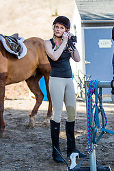 EXCLUSIVE: Stephanie Pratt takes some time out to go horse back riding with Australian actor Cassi Thomson and trainer Noelle Rox at Shea Equestrian in Simi Valley, Ca. 15 Jan 2018 Pictured: Stephanie Pratt. Photo credit: MEGA TheMegaAgency.com +1 888 505 6342