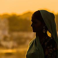 Pushkar beauty profiled at sunset