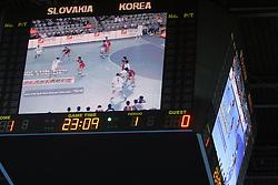 TV during 21st Men's World Handball Championship 2009 Main round Group I match between National teams of Slovakia and Korea, on January 24, 2009, in Arena Zagreb, Zagreb, Croatia.  (Photo by Vid Ponikvar / Sportida)