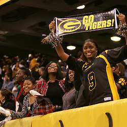 2008 November, 29: A Grambling State fan celebrates in the stands during a 29-14 win by Grambling State over Southern University during the 35th annual State Farm Bayou Classic at the Louisiana Superdome in New Orleans, LA.  .