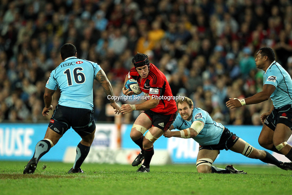 Matt Todd - NSW Waratahs v Canterbury Crusaders. Sport Rugby Union Provincial Representative Super Rugby. Allianz Stadium SFS. 29 April 2012. Photo by Paul Seiser/Seiser Photography