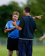 IHC at Cortown, 2nd September 2016<br /> St Michaels vs Dunderry<br /> Referee Richard Morris gives marching orders to St Michael`s selector Tom Halpin after he verbally abused the Umpire<br /> Photo: David Mullen /www.cyberimages.net / 2016