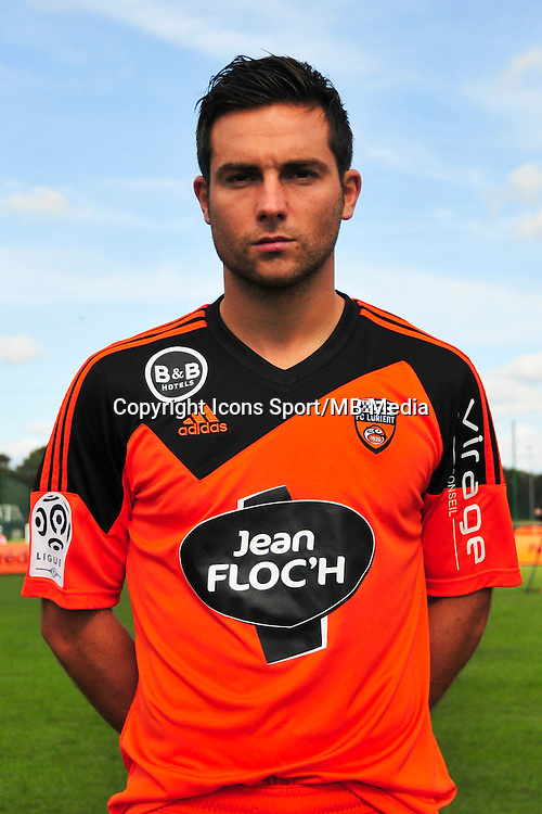 Mathieu Coutadeur - 25.09.2014 - Photo officielle Lorient - Ligue 1 2014/2015<br /> Photo : Philippe Le Brech / Icon Sport
