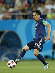 Makoto Hasebe of Japan during the 2018 FIFA World Cup Russia round of 16 match between Belgium and Japan at the Rostov Arena on July 02, 2018 in Rostov-On-Don, Russia