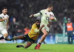 Jonny May of England is tackled - Mandatory byline: Patrick Khachfe/JMP - 07966 386802 - 18/11/2017 - RUGBY UNION - Twickenham Stadium - London, England - England v Australia - Old Mutual Wealth Series International