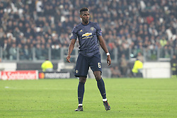 November 7, 2018 - Turin, Piedmont, Italy - Paul Pogba (Manchester Utd. FC) during the UEFA Champions League match between Juventus FC and Manchester United FC,  at Allianz Stadium on November 07, 2018 in Turin, Italy..Juventus FC lost 1-2 against Manchester United. (Credit Image: © Massimiliano Ferraro/NurPhoto via ZUMA Press)