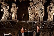 Vorkonzert mit SchülerInnen des Konservatoriums des Konservatoriums für Musik, Freiburg / Waadt; ECLATS CONCERT vom 22. Januar 2011 im Kunstmuseum Freiburg. © Romano P. Riedo