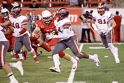 NORMAL, IL - September 01: Dylan Draka covers and ultimately stops Vance McShane during a college football game between the ISU (Illinois State University) Redbirds and the Saint Xavier Cougars on September 01 2018 at Hancock Stadium in Normal, IL. (Photo by Alan Look)