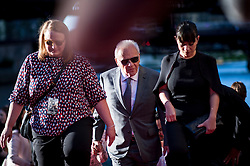 Anthony Hopkins and his wife Stella Arroyave walk to the red carpet to attend the US Premier of 'Transformers: The Last Knight' on the Chicago River in front of the Civic Opera House on Tuesday June 20, 2017 in Chicago, IL. Photo: Christopher Dilts / Sipa USA *** Please Use Credit from Credit Field ***