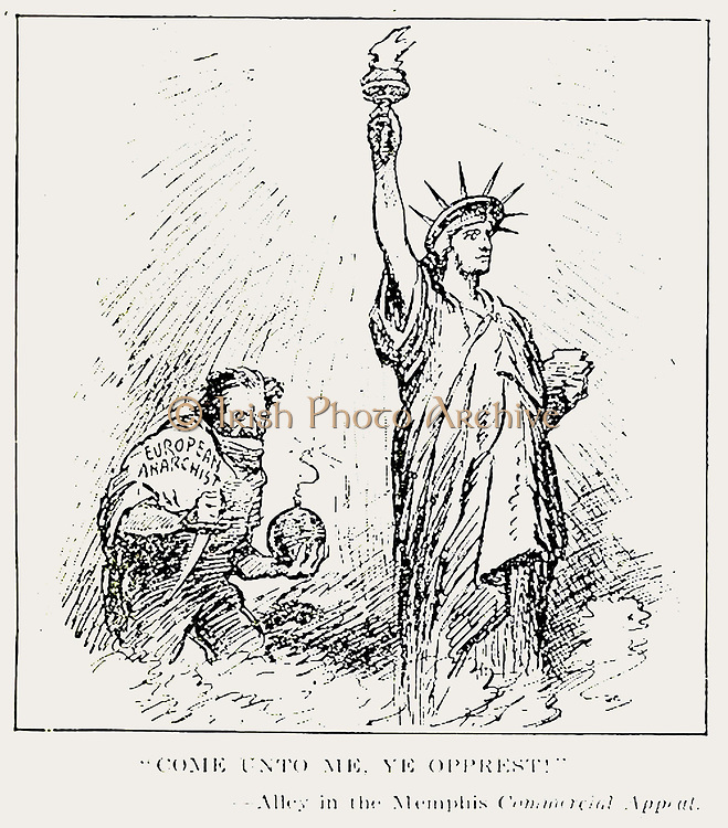 Anti Bolshevik Political Cartoon published in the Literary Digest, USA  July 5, 1919