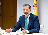 061120 King Felipe of Spain attends Plenary Commission of the Network of Smart Tourist Destinations