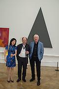 MIYAKO NARITA; RICHARD WILSON; MICHAEL CRAIG-MARTIN, Royal Academy Summer exhibition private view. Piccadilly. London. 3 June 2015