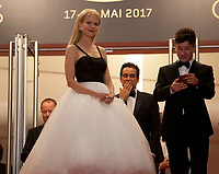 Nicole Kidman, Colin Farrell and Barry Keoghan at The Killing of a Sacred Deer gala screening at the 70th Cannes Film Festival Monday 22nd May 2017, Cannes, France. Photo credit: Doreen Kennedy