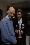 Allen jones and Duggie Fields. Liza Lou exhibition. White Cube, Hoxton sq. London. 2 March 2006. ONE TIME USE ONLY - DO NOT ARCHIVE  © Copyright Photograph by Dafydd Jones 66 Stockwell Park Rd. London SW9 0DA Tel 020 7733 0108 www.dafjones.com