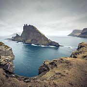 Stóri Drangur, Sørvágsfjørður fjord, Vágoy