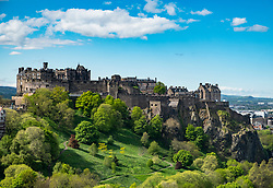 View of Edinburgh Castle, Scotland United Kingdom