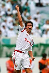 O jogador do Internacional, Danny Moraes comemora o seu gol na partida contra o Juventude, válida pela final do campeonato gaúcho 2008, no estádio Beira Rio, em Porto Alegre. FOTO: Jefferson Bernardes/Preview.com