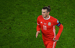 CARDIFF, WALES - Sunday, October 13, 2019: Wales' captain Gareth Bale during the UEFA Euro 2020 Qualifying Group E match between Wales and Croatia at the Cardiff City Stadium. (Pic by Paul Greenwood/Propaganda)