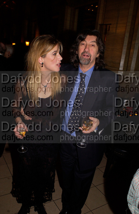Imogen Stubbs and Sir Trevor Nunn, Krug Christmas party, hosted by Sir Trevor Nunn and Imogen Stubbs, the Criterion, 10 December 2003. © Copyright Photograph by Dafydd Jones 66 Stockwell Park Rd. London SW9 0DA Tel 020 7733 0108 www.dafjones.com