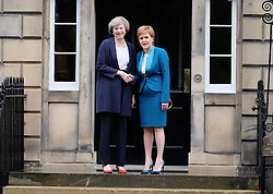 Prime Minister Visit, Edinburgh, Friday 15th July 2016<br /> <br /> Prime Minister Theresa May make her first official visit to Scotland to meet First Minister Nicola Sturgeon <br /> <br /> (c) Alex Todd | Edinburgh Elite media