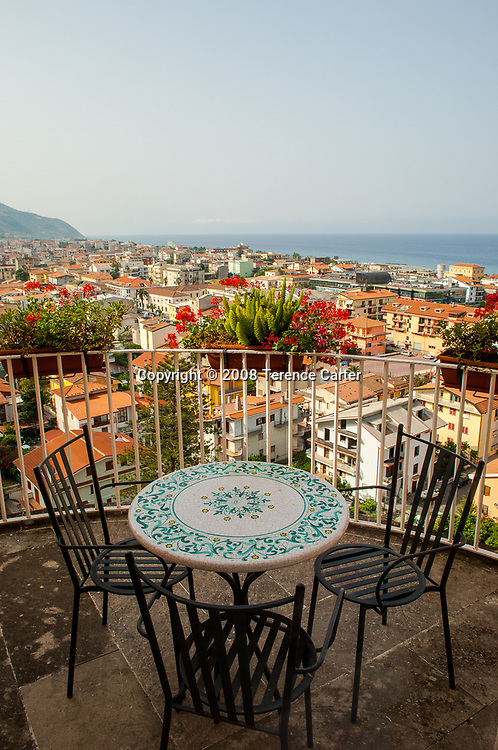 View of Amantea from Palazzo Le Clarisse.