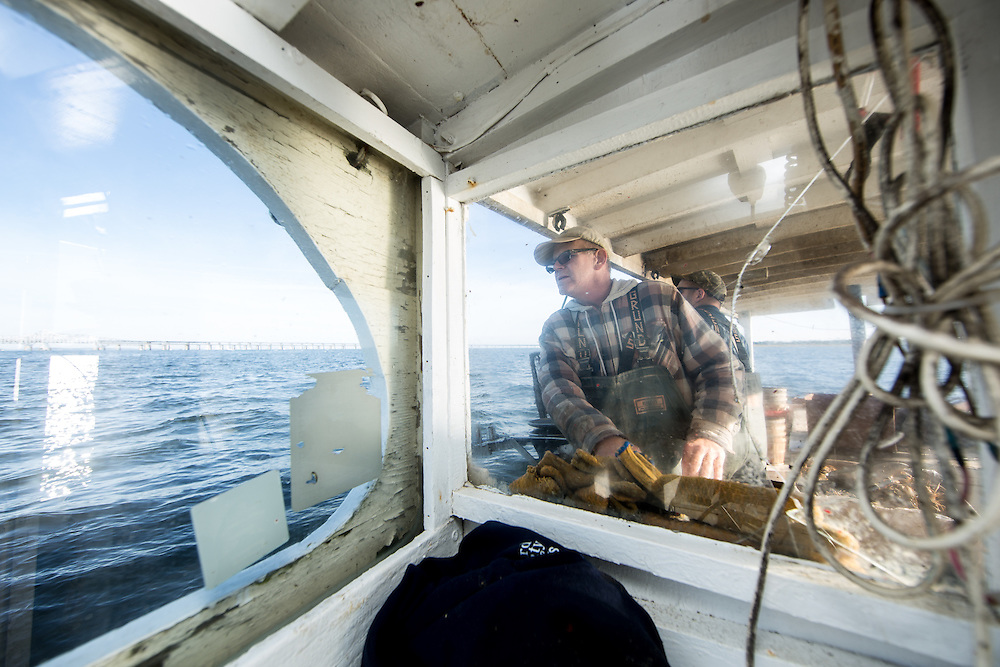 Captain Richard guides the boat to the next buoy | October 11, 2015 | October 11, 2015