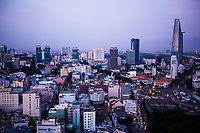 Saigon at dusk.