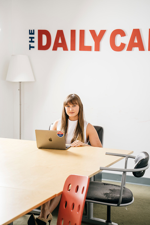 Amanda Tidwell, a Donald Trump supporter attending Ohio State University, at The Daily Caller in Washington, D.C. where she is an intern.