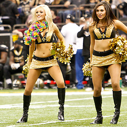 December 4, 2011; New Orleans, LA, USA; New Orleans Saints Saintsations cheerleaders perform during the second quarter of a game against the Detroit Lions at the Mercedes-Benz Superdome. The Saints defeated the Lions 31-17.  Mandatory Credit: Derick E. Hingle-US PRESSWIRE