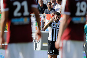Thomas MANGANI (SCO Angers) cryed on partners to motived them to score during the French championship L1 football match between SCO Angers and Bordeaux on August 6th, 2017 at Raymond-Kopa stadium, France - PHOTO Stéphane Allaman / ProSportsImages / DPPI