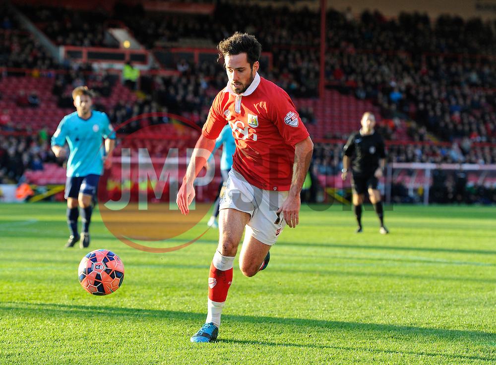 Bristol City's Greg Cunningham  - Photo mandatory by-line: Joe Meredith/JMP - Mobile: 07966 386802 - 07/12/2014 - SPORT - Football - Bristol - Ashton Gate - Bristol City v AFC Telford United - FA Cup