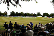 Panoramic view of the ground during the LV County Championship Div 1 match between Sussex County Cricket Club and Durham County Cricket Club at the Arundel Castle Cricket Ground, United Kingdom on 15 June 2015. Photo by Bennett Dean.