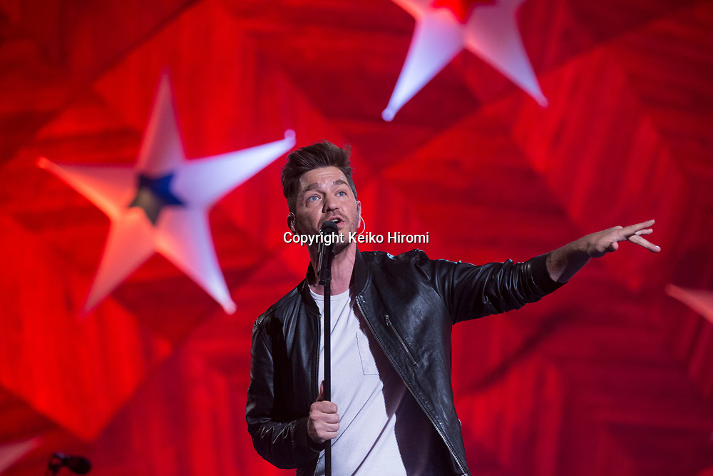 July 3, 2017, Esplanade, Boston, Massachusetts, USA: Andy Grammer performing during a rehearsal concert for the annual Boston Pops Fireworks Spectacular on the Esplanade in Boston.