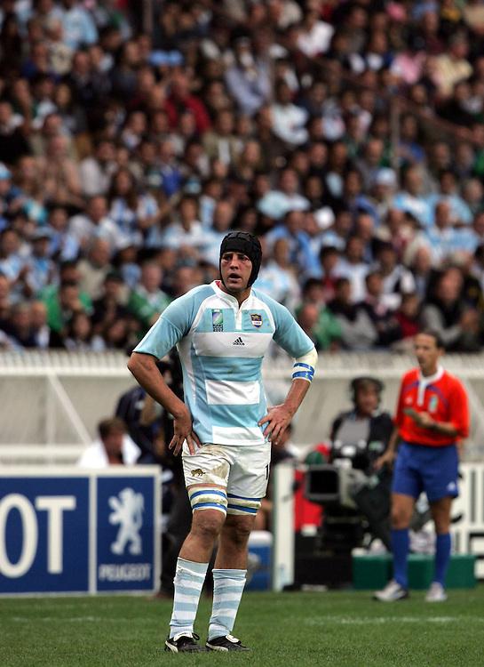 Rimas Alvarez Kairelis of Argentina. Ireland v Argentina, Parc Des Princes, Paris, France, 30th September 2007. Rugby World Cup 2007.