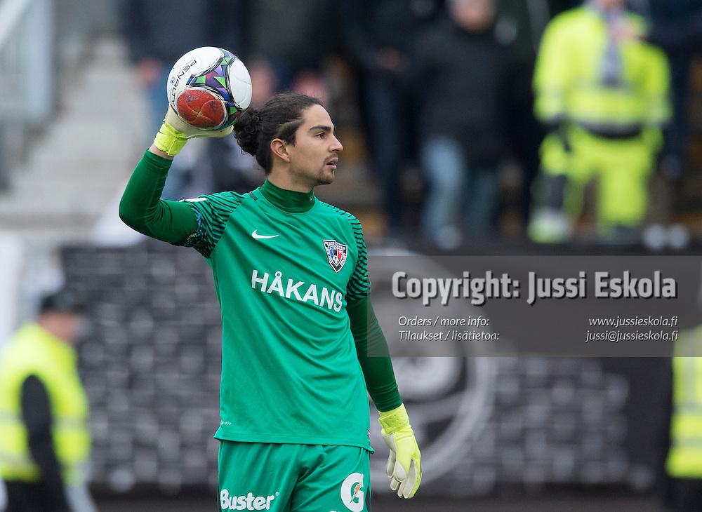 David Monsalve. TPS - Inter. 1. osaottelu, karsinta. Veikkausliiga. Ykkönen. Turku. 26.10.2016. Photo: Jussi Eskola