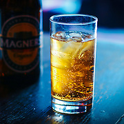 Magners cider in glass, London, England (March 2007)