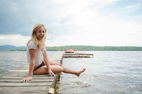 Young lady at Lake Winnisquam. ©2104 Karen Bobotas Photographer