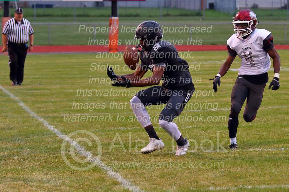 26 August 2016: Peoria High Lions at Normal West Wildcats IHSA football, Normal Illinois<br /> <br /> #NormalWestFootball #Wildcats #bestlookmagazine #alphoto513 #IHSA #IHSAFootball